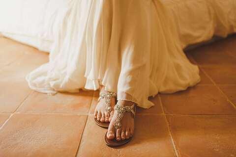 Bridal wedding sandals