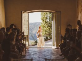 Bride entering church Italy