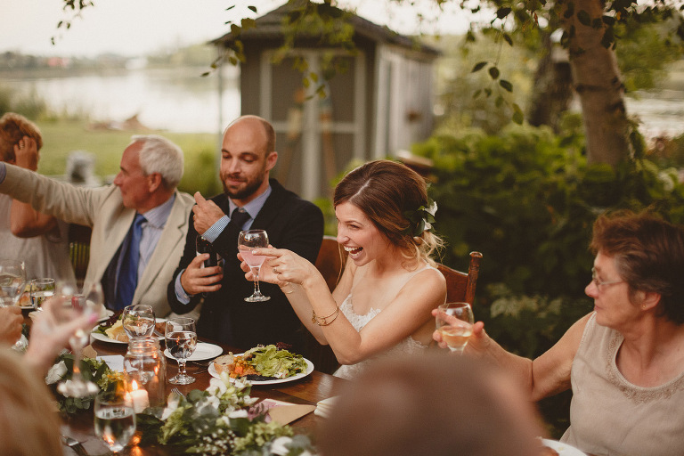 Ontario lake wedding