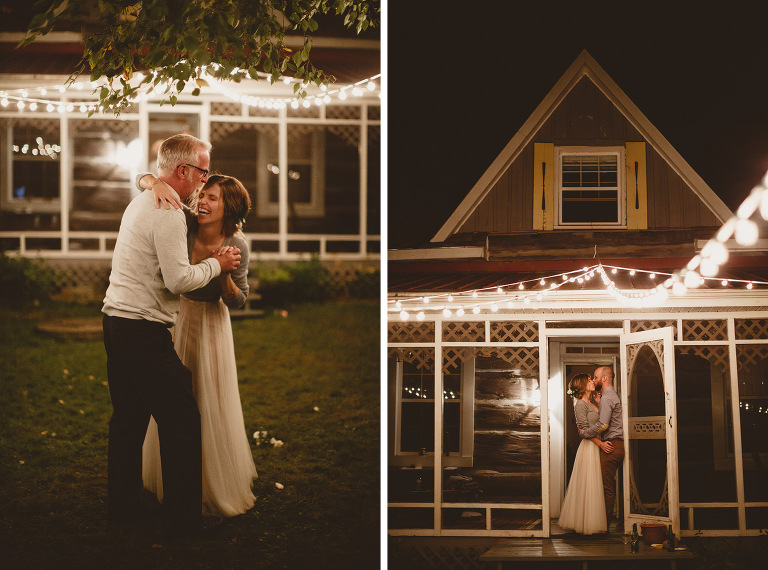 log cabin wedding