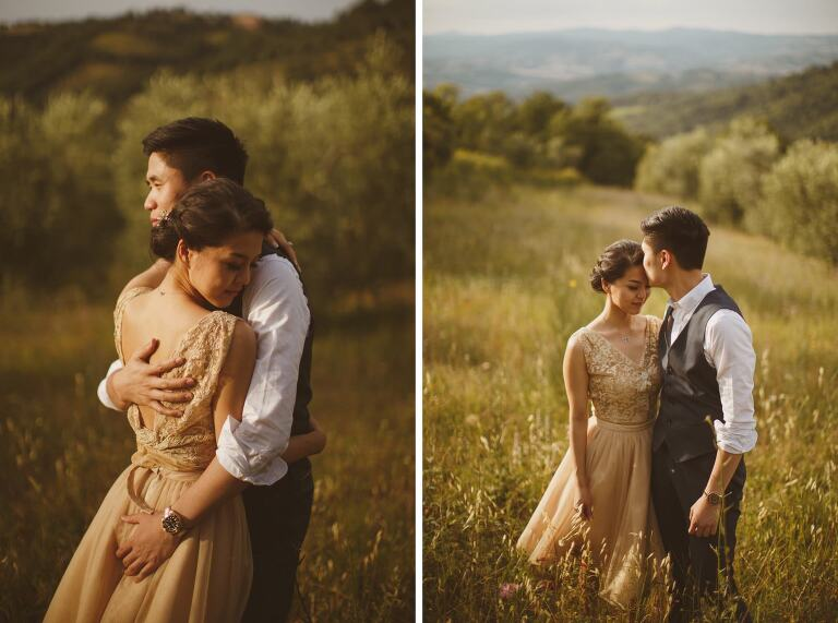 pre-wedding photographer Tuscany